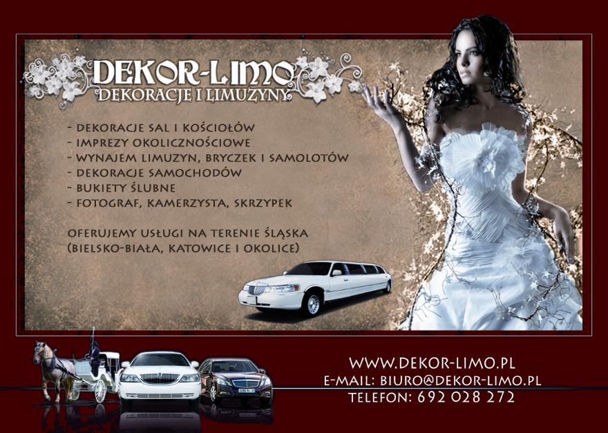 Dekor Limo Dekoracje ślubne Dekoracje Sal Weselnych ślubne Dekoracje