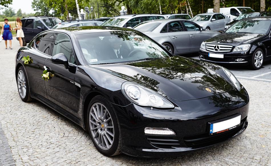 Do ślubu Ekskluzywnym Porsche Panamera Auto Do ślubu