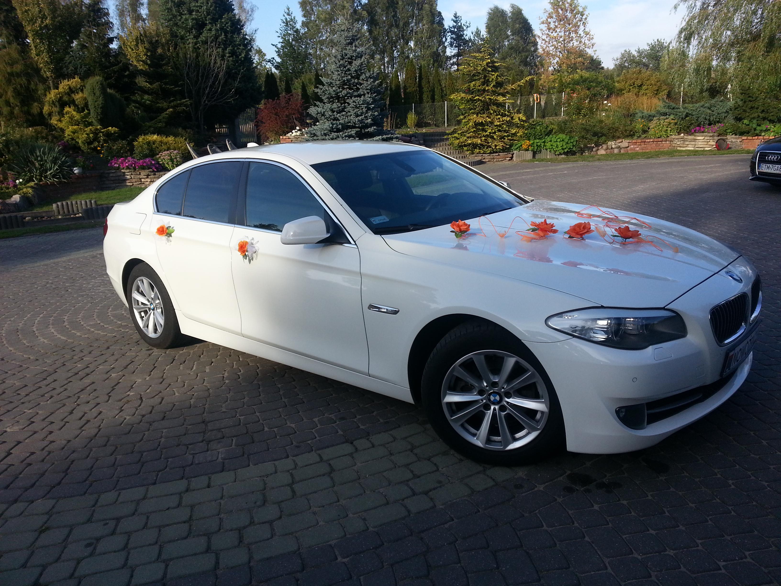 Białe Bmw 5 F10 Auto Do ślubu ł 243 Dż