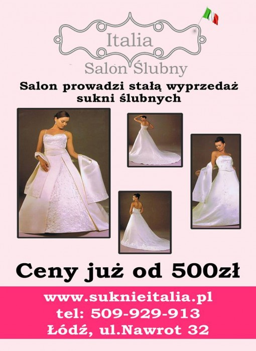 38c4210d3c Suknie Ślubne Italia - Suknie Ślubne Łódź