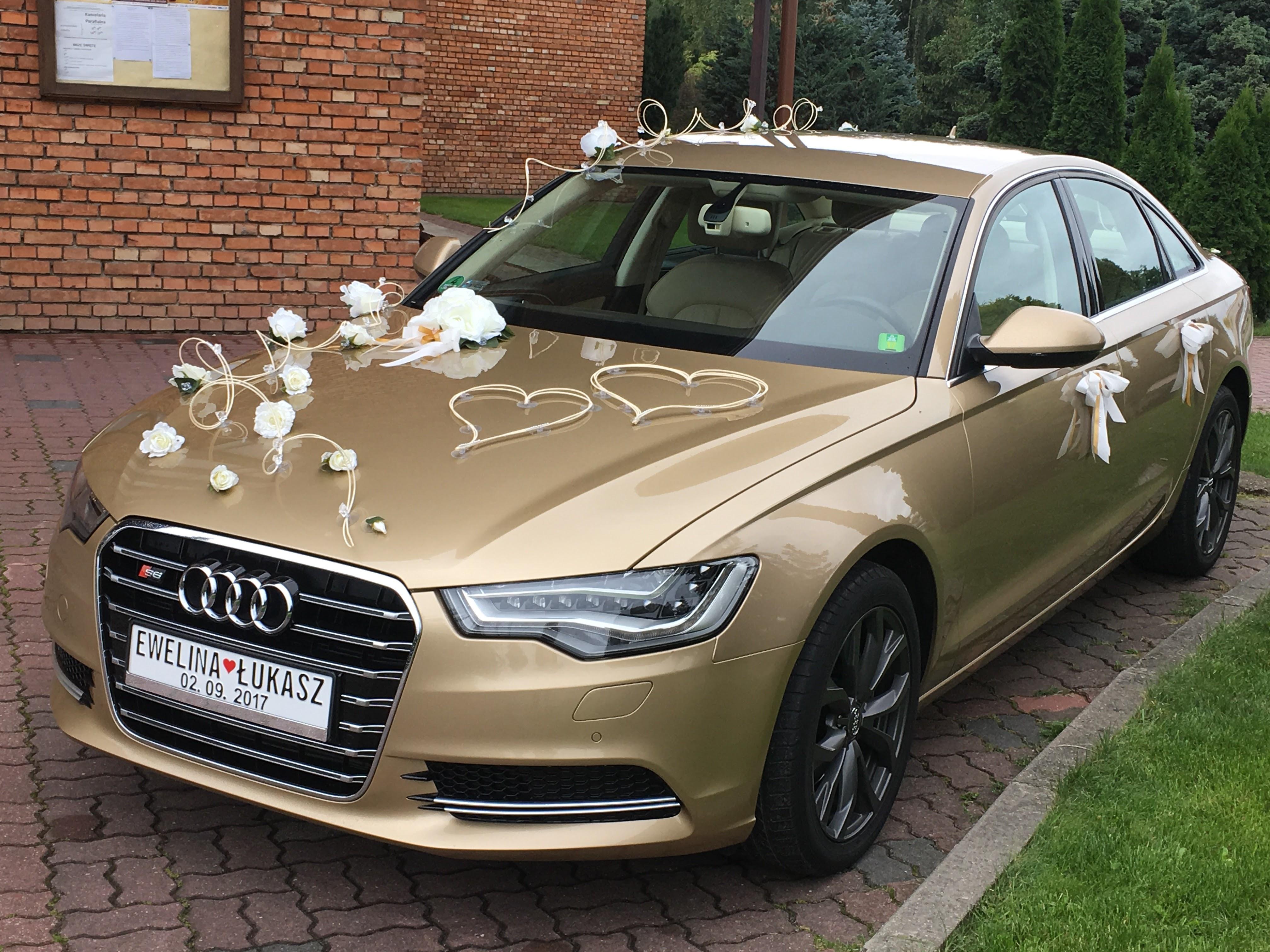 Ogromnie Auto do ślubu Złote Audi A6 - Auto do ślubu Grójec QW08
