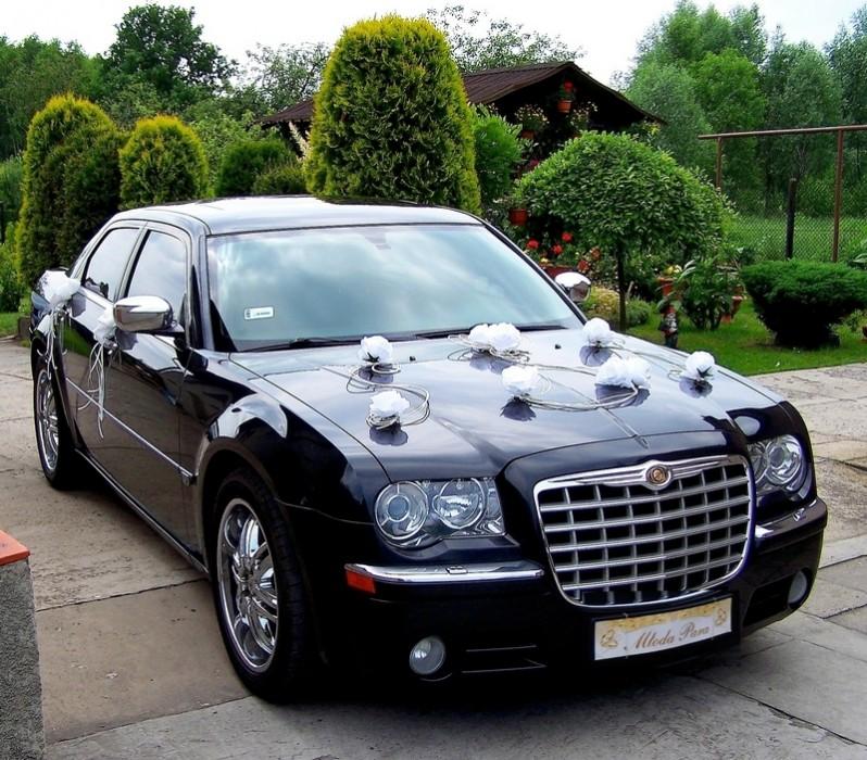 Chrysler 300c śnieznobiały I Czarny Na ślub I Wesele Auto Do ślubu