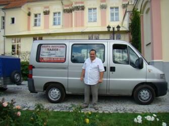Janusz,szofer ze swoją furmanką:) Wschowa