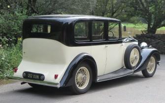 Rolls Royce Hooper 1933 z tyłu. Wciąż ładny ;-) Otwock