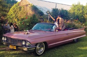 Różowy Cadillac Kabriolet na Ślubie Jasło