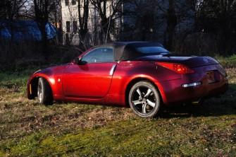 Auto do ślubu kabriolet Nissan sportowy samochód do reklamy wynajem Łódź
