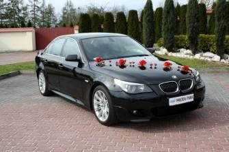 Auto do ślubu na wesele BMW 5 M-pakiet Wieluń, Działoszyn, Pajęczno
