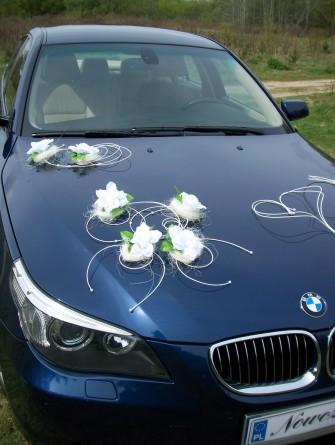 Niebieskie BMW 530xd, wn�trze kremowe sk�ry - Pozna�