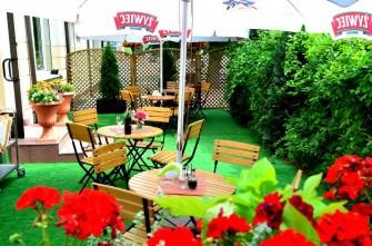 Ogródek piwny, zielona wyspa Hotel Dukat Biała Podlaska
