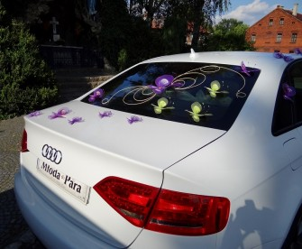 Piękne aranżacje ślubne - Audi S4 w pakiecie ślubnym. Zapraszamy Gliwice