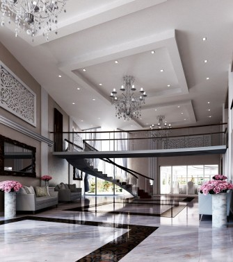 Foyer - wizualizacja Szczyrk