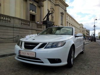 Auto do Ślubu Biały Kabriolet do wynajęcia Samochód na Wesele Warszawa