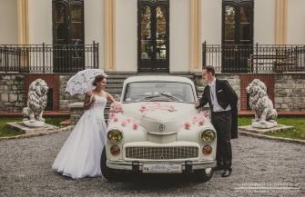 Warszawa auto do ślubu  Polonez, Nysa Wołów