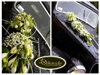 Dekoracja ślubna samochodu  Rybnik