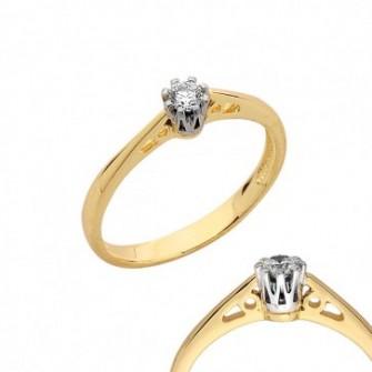 Złoty pierścionek zaręczynowy Polkowice