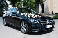 Nowy Mercedes E-klasa 2016r. , Bia�y AMG Mercedes, Czarne BMW 5 Wlkp. Nowe Skalmierzyce