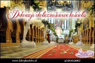 Dekoracja kościoła na ślub Rzeszów Krosno Jasło Strzyżów Podkarpacie