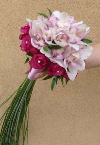 Wiązanka ślubna ze storczyka i róży, Szczuczyn