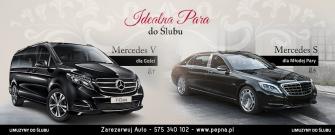 Mercedes MAYBACH do Ślubu + Mercedes V dla Rodziców/Świadków Wrocław
