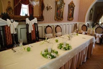 dekoracja stołu Pary Młodej Poznań, Pobiedziska, Swarzędz