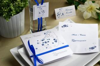 Niebieskie zaproszenie ślubne - pierwszy taniec Katowice