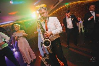Marek z saksofonem Żnin