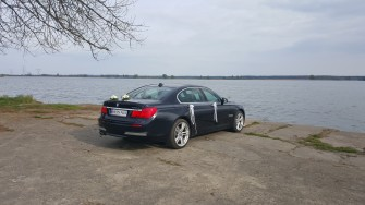 Auto samochód do ślubu limuzyna BMW 730d M-pakiet Ostrów Wielkopolski