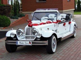 Zabytkowe Samochody weselne Auta ślubne kabriolet Nestor Baron Spider Międzyrzec Podlaski