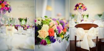 Dekoracja sali weselnej w Pałacu Romantycznym. Toruń