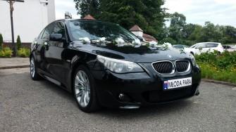 Auto do ślubu na wesele czarne BMW 5 M-pakiet Częstochowa i okolice