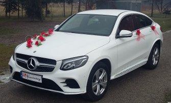 Auto do ślubu MERCEDES Biały GLC Coupe,a także BUS Kraków