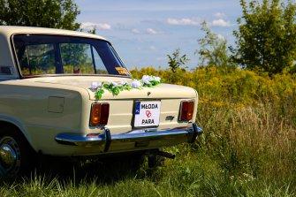 Fiat 125p do ślubu Warszawa