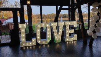 Duży napis LOVE w cenie usługi 120x80x30 Olsztyn