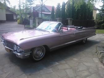 Różowy Cadillac De Ville Kabriolet !!! JASŁO