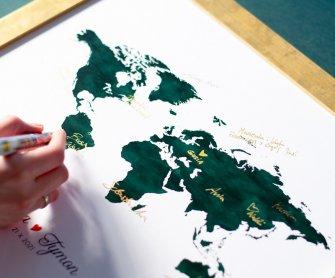 Księga gości z mapą świata Rzeszów