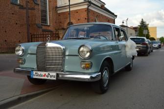 Auto Mercedes W110 Skrzydlak do Ślubu filmu zdjęć Ciechanów