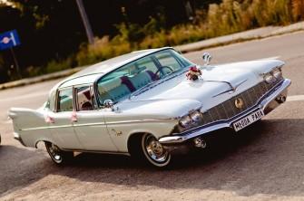 Zabytkowy amerykański samochód do ślubu Chrysler Iperial 1960r Łuków