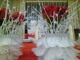 dekoracja przed Parą Młodą Książenice