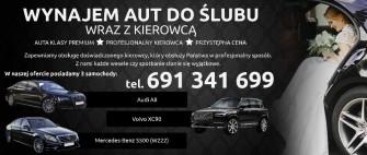Auto do ślubu - Wynajem - Mercedes S klasa, Volvo XC90, Audi A8 - WLKP Kobylin