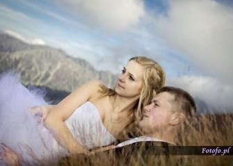 Zdjęcia ślubne w górach Wieliczka