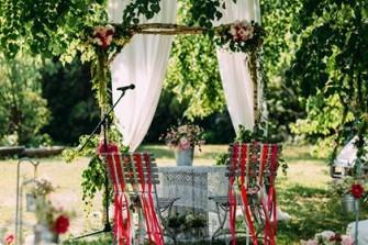 Dekoracja ślubu plenerowego magnuszew