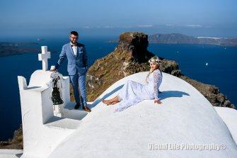 Sesja ślubna na  Santorini Warszawa