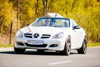 Mercedes cabrio do ślubu - biała perła - ZOBACZ FILM Poznań