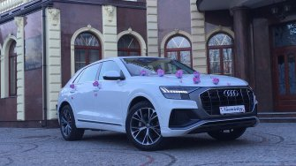 Białe auto do ślubu Audi Q8 Suwałki