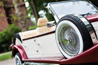 Zabytkowy kabriolet do ślubu RETRO samochody Luxusowe limuzyny ślubne Siedlce