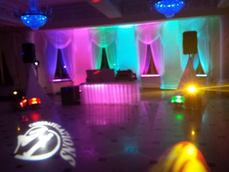 Dekoracja oświetleniem. dj wodzirej na wesele Bielsko-Biała