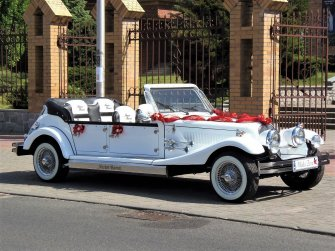 Luksusowe zabytkowe samochody do ślubu Kabriolet Auto na ślub wesele Łomża