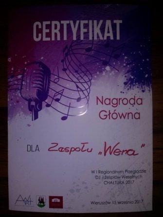 Nagroda główna dla Zespół WENA Wieruszów
