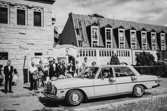 Zabytkowy amerykański Mercedes  Wrocław