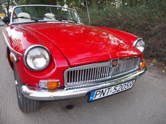 Czerwony kabriolet Poznań